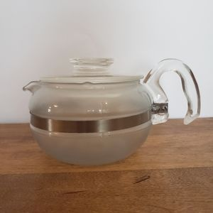 VTG pyrex glass 6 cup teapot flameware